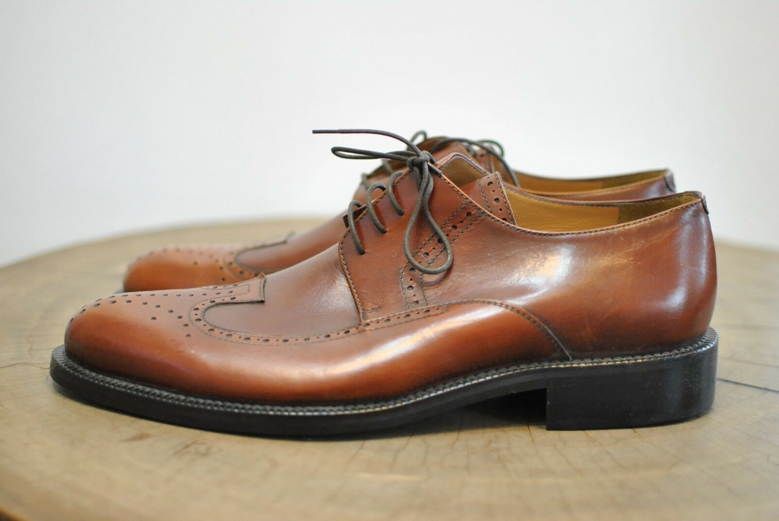 PAKERSON MEN'S LEATHER DRESS SHOES , HANDMADE IN ITALY SHOES.........(099)