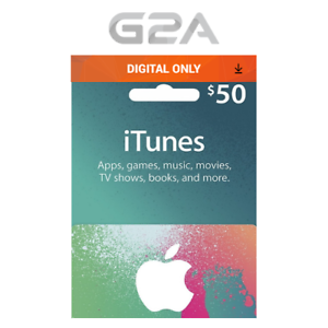 Details about iTunes Gift Card $50 USD Key - 50 Dollar US Apple Store Code  for iPhone iPad Mac