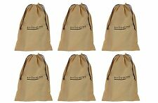 6 Shoe Bags Shoe Sleeves Shoe Organizers (Set of 6 Shoe bags) Beige-(Be6)