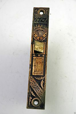 Antique Victorian Oriental Ornate Passage Mortise Lock BLW.