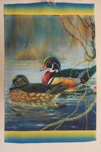 Misty Morning Water banks Details about  /Wood Duck decorative Garden flag Carolina Duck
