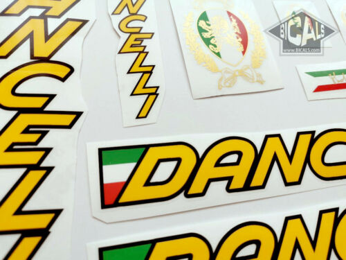 yellow letters decal set sticker complete bicycle FREE SHIPPING DANCELLI
