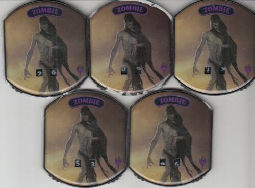Ultra Pro Relic Token Magic Gathering MTG Lot of 5 Zombie Tokens!
