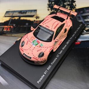 New-1-64-Spark-Porsche-911-RSR-Car-model-pink-pig-2018-LeMans-LMGTE-Winner-Y122