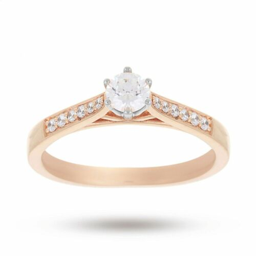 Classy 0.65 Cts Round Brilliant Cut Natural Diamond Solitaire Ring In 14K Gold