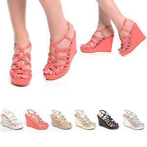 NEW-WOMEN-LADIES-FASHION-WEDGES-ANKLE-STRAP-PLATFORM-SHOES-SIZE-3-8