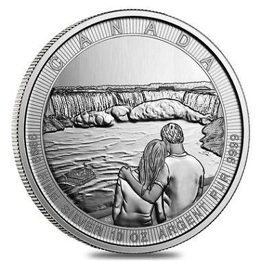 10 oz Silver Canada Great CTG Niagara Falls $50 Coin