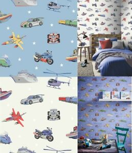 Arthouse Zoom Away Vehicles Boys Bedroom Wallpaper Cars Motorbike