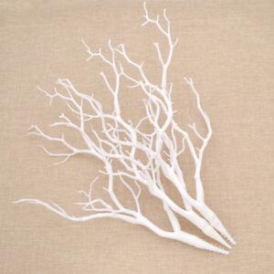 k nstlich chemisch hochzeit deko 36cm pflanze baum ast 3 stk manzanita wei ebay. Black Bedroom Furniture Sets. Home Design Ideas
