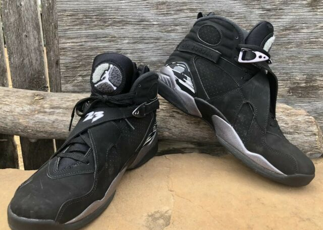 info for 3dadf 52535 Nike Air Jordan 8 VIII Retro Chrome Black Silver Mens Aj8 Shoes 305381-003  10.5