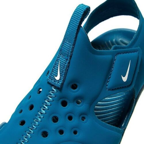 BLUE GREEN NIKE SUNRAY PROTECT 2 TD SANDALS 943827-301