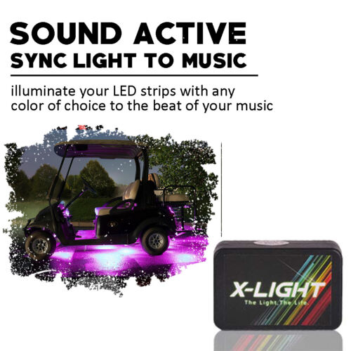 Full Color Custom LED Under Glow Lighting Strip Kit For Yamaha Suzuki Honda ATV
