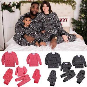 Image is loading Family-Matching-Christmas-Pajamas-Set-Men-Women-Toddler- 5b35a16306