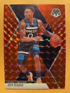 2019-20-Panini-Mosaic-Jeff-Teague-Red-Wave-Prizms-SP-93-MINT-WOW