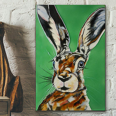 """Mad Hare Decorative Ceramic Picture Tile Kitchen Wall Art Plaque 8x12"""" NEW 05212"""