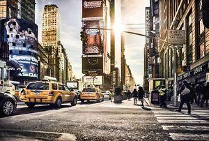 Detalles De Non Woven Gigante Wallpaper 368x248cm New York Times Square Diseño Mural De Pared Ver Título Original