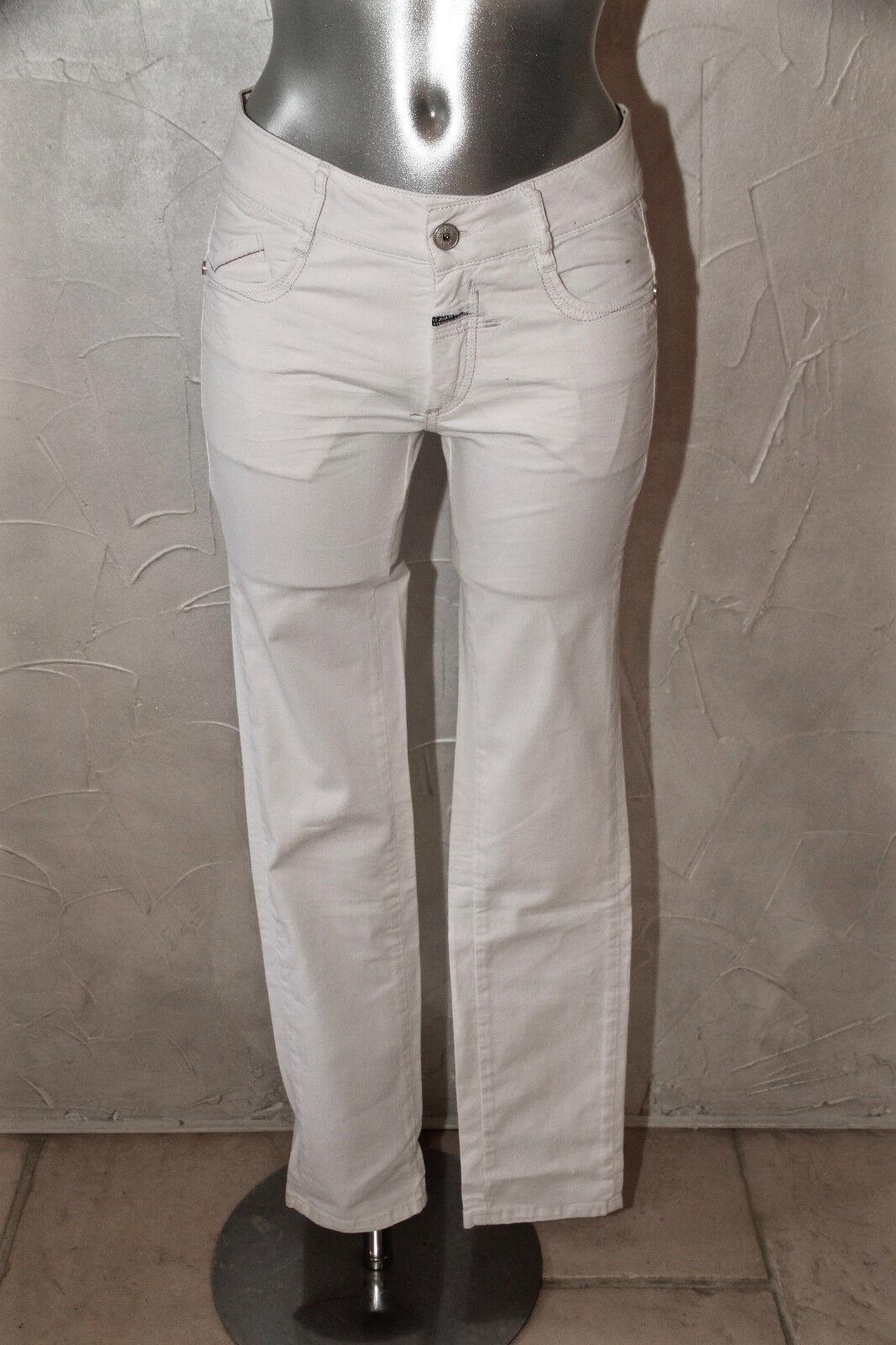 Carino jeans bianco sottile MARITHÉ FRANCOIS GIRBAUD taglia 36 14