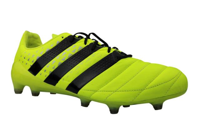 adidas Ace 16.1 FG Leder gelb schwarz 46 23
