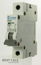 Europa Components - EUB1 - 40a Type B Single Pole MCB Used