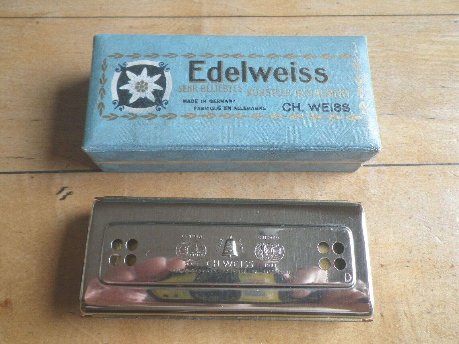 Mundharmonika Edelweiss Ch. Weiss Harmonica Instrument des Kenners Künstler