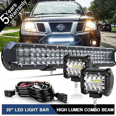 R/&L Racing Matte Black LED Light Bull Bar AVT Aluminum Guard 2004-2015 for Nissan Titan//Armada