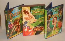 DVD Disney Tarzan 1 & 2 Das Abenteuer seiner ... 3 DVDs in Box, Boxset   wie Neu