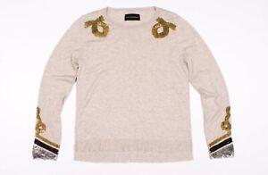 Zadig-amp-Voltaire-Sequin-Embroidered-Sweater-Size-M-Medium
