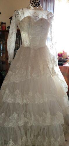 Vintage Original 1950s Wedding Dress w/ Matching B