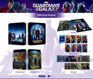 Guardians-of-the-Galaxy-Steelbook-Lenticular-Collector-039-s-Edition-293-of-900