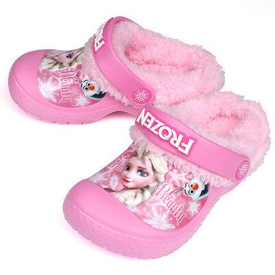 Disney Frozen Winter EVA Clogs Girls Shoes Slippers Pink