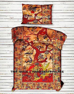 Indischen Baum des Lebens Baumwolle Wurf Hippie-Bettwäsche Kunst Boho Bettbezug