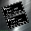 2 TWO Please Take Your Shoes Off Home Business Tienda Decal Sticker Car New