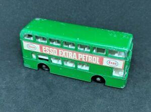 1966-LESNEY-MATCHBOX-NO-74-DAIMLER-BUS-ESSO-EXTRA-PETROL-GREEN-DIECAST