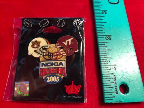 2005 Nokia Sugar Bowl Pin Auburn Tigers v Virginia Tech Hokies
