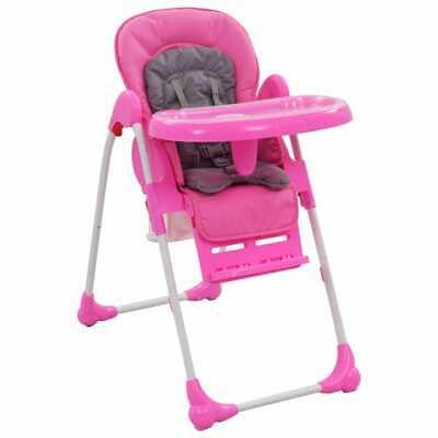 vidaXL Seggiolone Pappa per Bambini Rosa e Grigio Pieghevole Sedia Alta  Baby | eBay