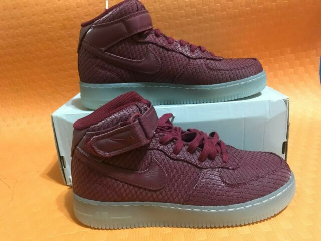 new arrival eab07 24baa Nike Air Force 1 Mid 07 Mens 804609-603 Team Red White Athletic Shoes Size  10.5