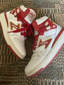 Etonic The Dream Akeem High Top Sneakers Size 6 Men's Red White Tennis Shoes