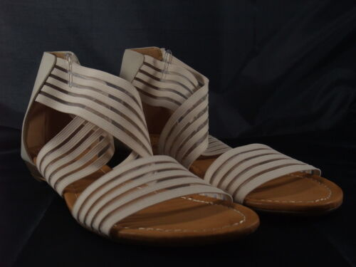 Damen Sandalette, Riemchensandalette, Beige, Auffällig, Neu, SDS, Gr. 36-41
