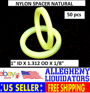 """100 NEW #10 NATURAL NYLON FLAT WASHER SPACER 3//8/"""" OD .032 THICK FREE SHIPPING NH"""