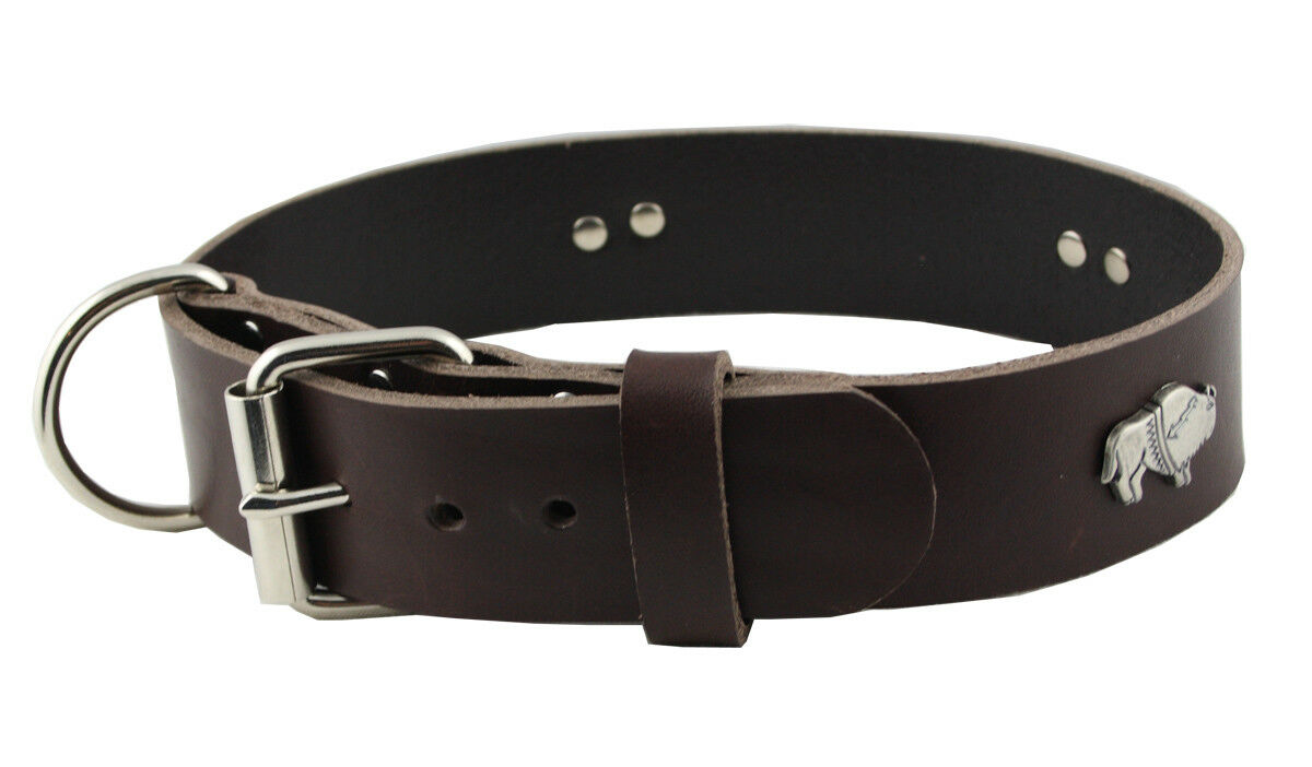 WESTERN-SPEICHER Hundehalsband Leder Indi brown Größe 57 - 63cm Breite 4cm