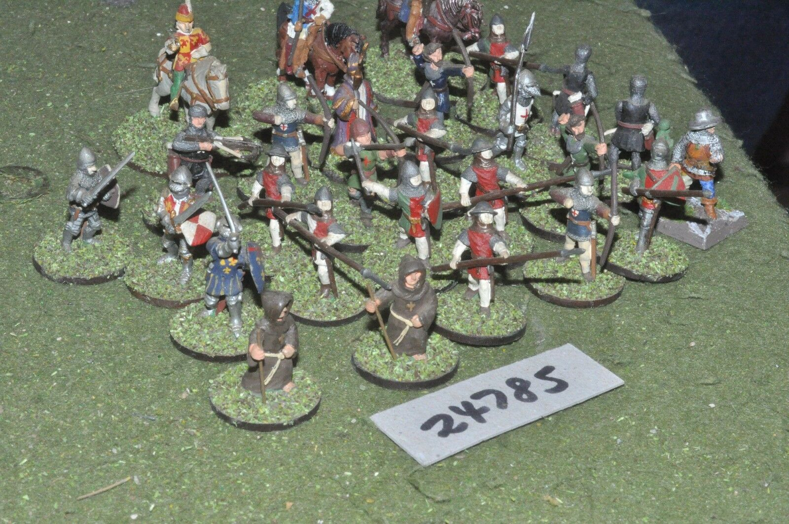 25mm medieval   english - battle group 27 figures - inf (24785)