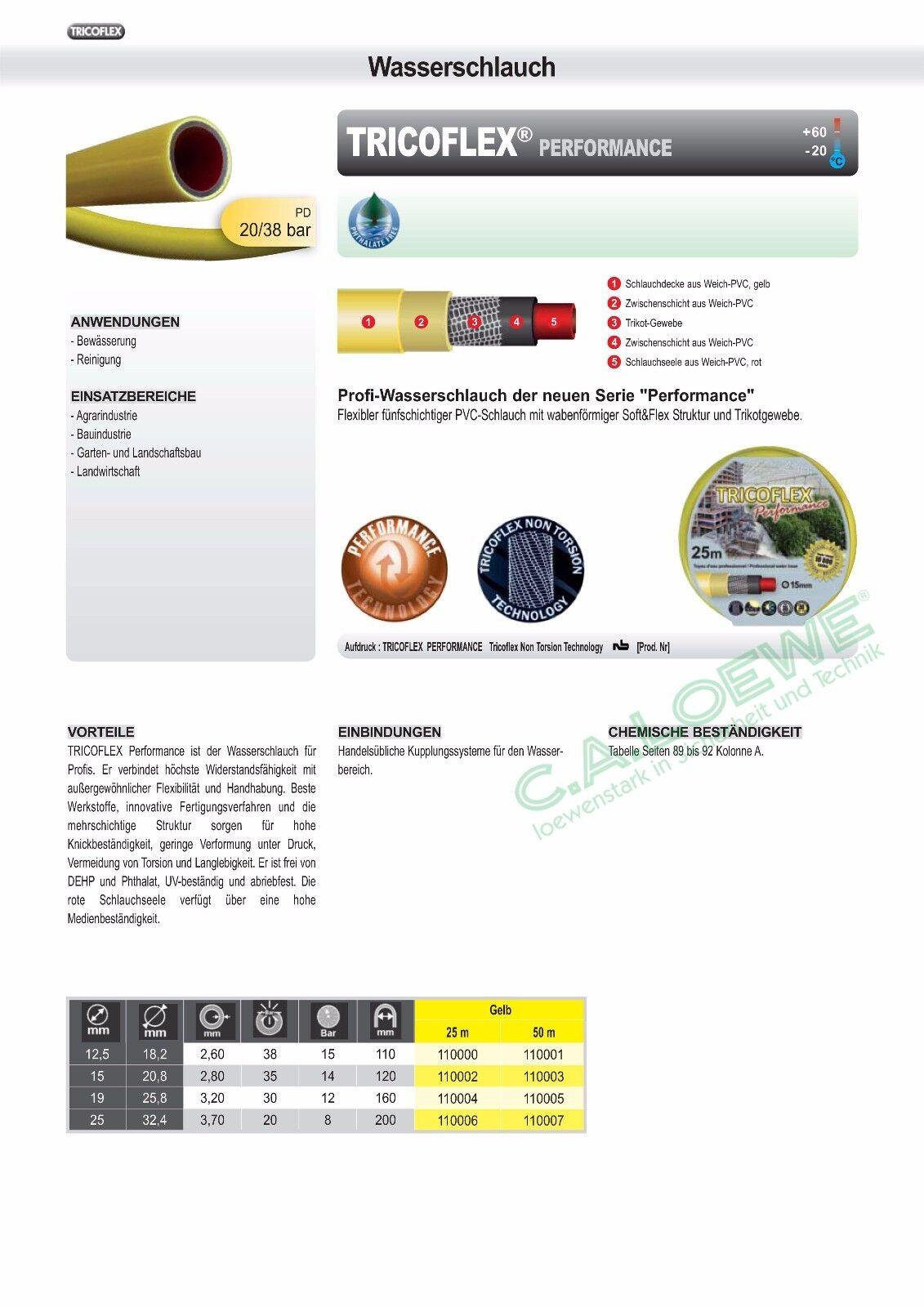 Wasserschlauch Tricoflex Performance gelb,1 2 12,5mm Rolle à 50m Gartenschlauch Gartenschlauch Gartenschlauch | Exquisite (mittlere) Verarbeitung  | Große Auswahl  | Konzentrieren Sie sich auf das Babyleben  b7a7ea
