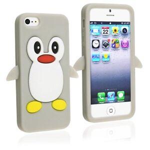 Dettagli su Grigio Pinguino Silicone Custodia/COVER per iPhone 4/4s- mostra il titolo originale
