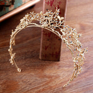 Gold-Pearl-Bridal-CrownRhinestone-Tiara-Dragonfly-Wedding-Party-Hair-AccessoRCUS