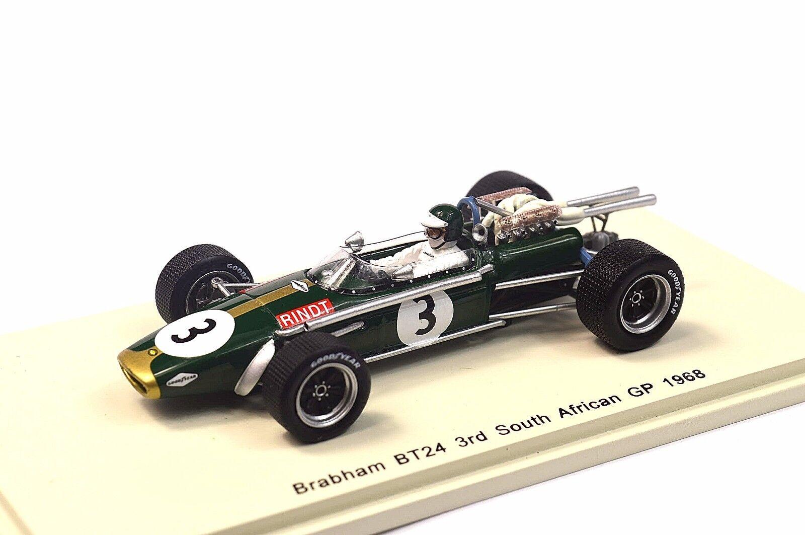 Brabham BT24 3RD afrique du sud 1968 1968 1968 jochen rindt 1:43 spark S4337 résine nouveau modèle   Facile à Nettoyer Surface  13284c