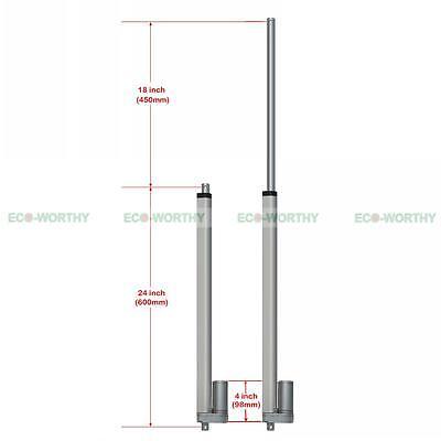 12V Linear Actuator Max Lift 330lbs/150kg Heavy Duty Electric Motor Bracket