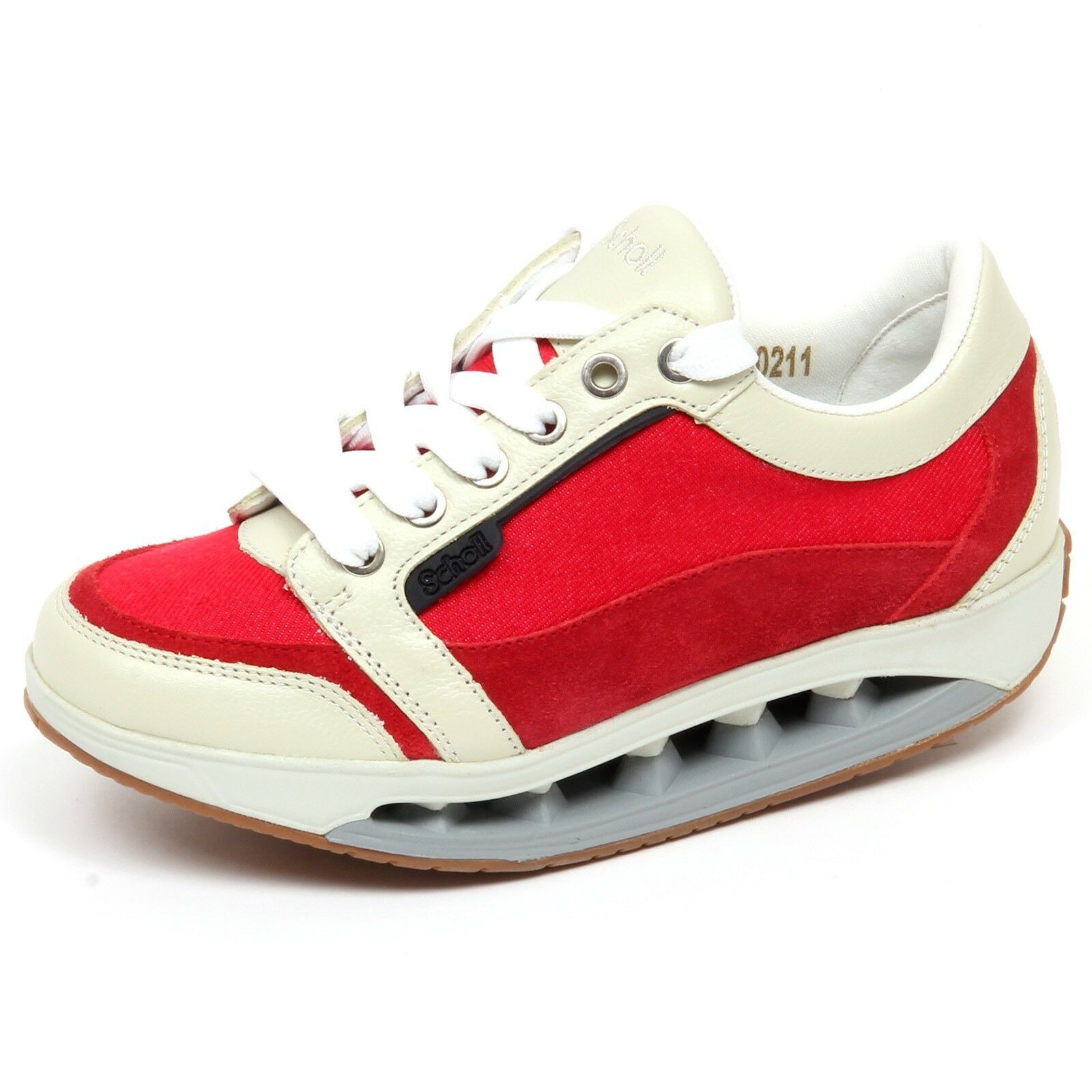 F4064 cortos mujer rojo Ivory scholl Starlit tissue Leather zapatos Woman