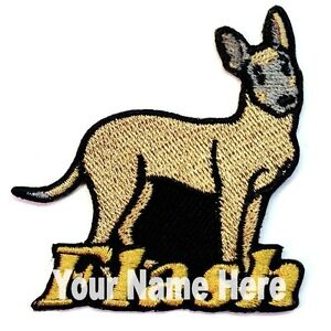 Belgian Malinois Dog Custom Iron-on Patch With Name Personalized Free