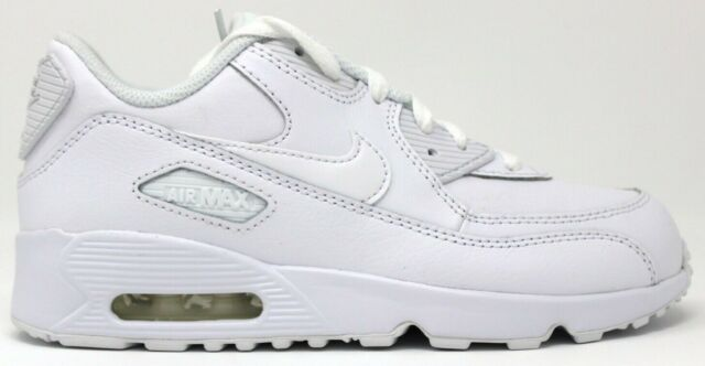 Nike Air Max 90 Ltr Little Kids 833414 100 White Athletic Shoes Youth Size 12.5