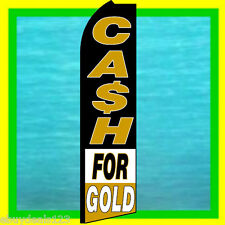 Cash For Gold Banner Flag Advertising Sign Feather Swooper Bow Flutter